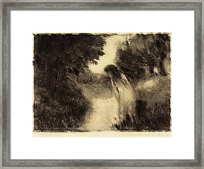Camille Pissarro French, 1830 - 1903, Bather Framed Print by Quint Lox