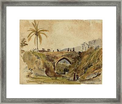 Camille Pissarro French, 1830 - 1903, Bridge At Caracas Framed Print by Quint Lox