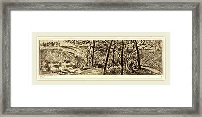 Camille Pissarro French, 1830-1903, Horizontal Landscape Framed Print by Litz Collection