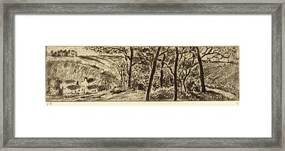 Camille Pissarro French, 1830 - 1903, Horizontal Landscape Framed Print by Quint Lox