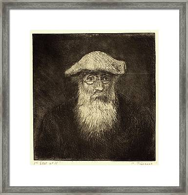 Camille Pissarro, French 1830-1903, Self-portrait Camille Framed Print by Litz Collection