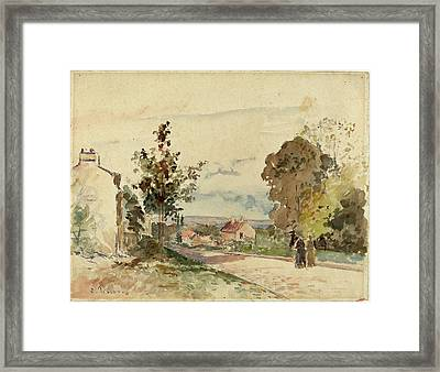 Camille Pissarro French, 1830 - 1903, The Road Framed Print by Quint Lox