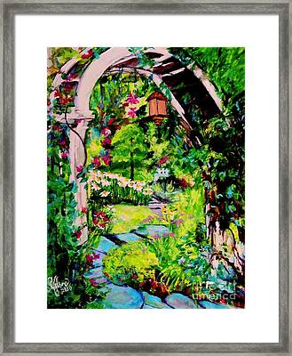 Camille's Secret Cottage Garden  Framed Print