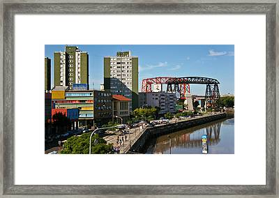 Framed Print featuring the photograph Caminito by Silvia Bruno