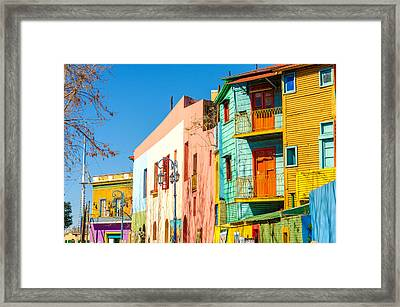 Caminito Street In Buenos Aires Framed Print by Jess Kraft