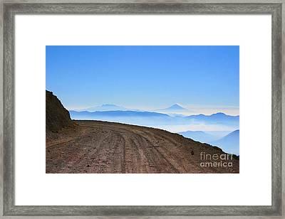 Camino En Volcan Nevado De Toluca Framed Print