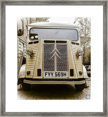 Camionette Cappuccino Chic Framed Print by Anatole Beams