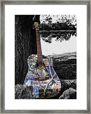 Camo Guitar Framed Print