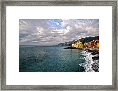Camogli Colors Framed Print by Heidi Peschel