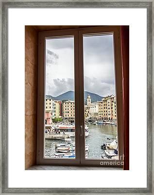 Camogli From My Window Framed Print