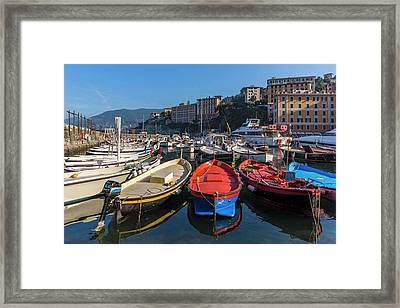 Camogli, Genoa Province, Italy Framed Print by Ken Welsh