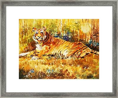 Framed Print featuring the painting Camouflage by Al Brown