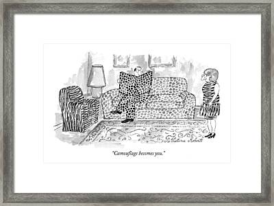 Camouflage Becomes You Framed Print