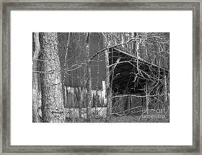 Camouflage Black And White Ver 1 Framed Print by Affini Woodley