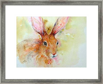 Camouflage Brown Hare Framed Print