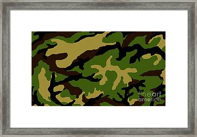 Camouflage Military Tribute Framed Print by Roz Abellera Art