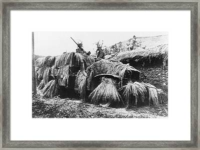 Camouflaged Army Truck Framed Print