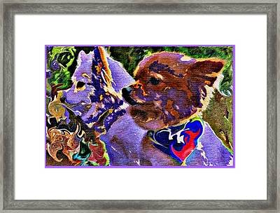 Camouflaged Friendship Framed Print by Sherry Gombert