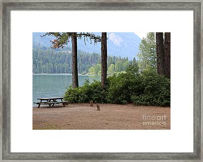 Camp By The Lake Framed Print by Carol Groenen