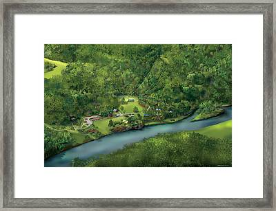 Camp Cheerio Adventure Camp Framed Print by Rhett and Sherry  Erb