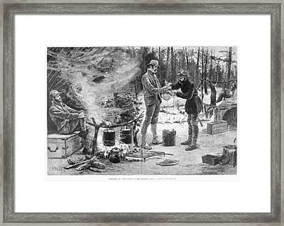 Camp Christmas, 1885 Framed Print