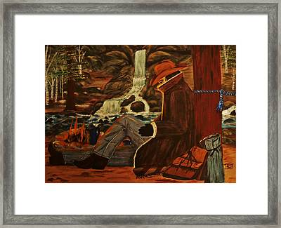 Camp Coffee Rest Framed Print by Barbara St Jean