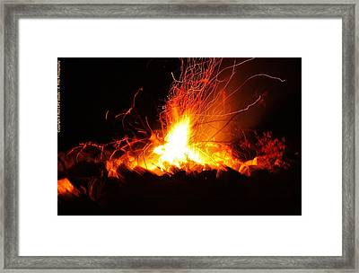 Framed Print featuring the photograph Camp Fire... by Al Fritz