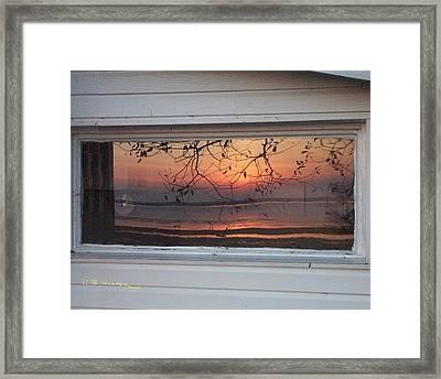 Camp Fire Framed Print