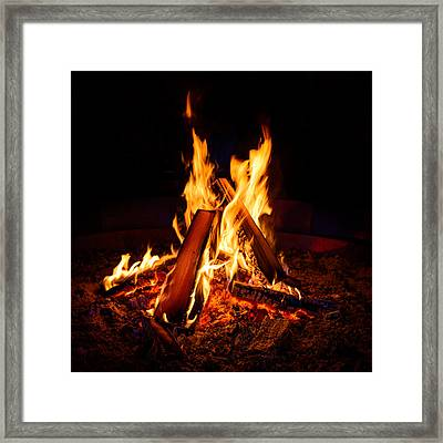 Camp Fire Framed Print