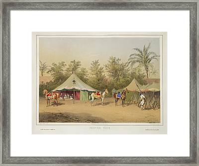Camp In Egypt Framed Print by British Library