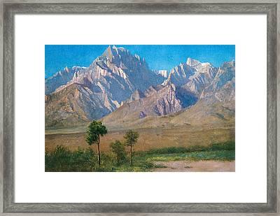 Camp Independence Colorado Framed Print by Albert Bierstadt