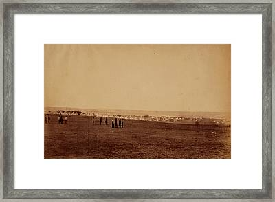 Camp Of The 3rd Division, French Tents In The Distance Framed Print by Quint Lox