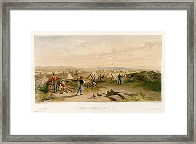 Camp Of The 4th Division Framed Print by British Library