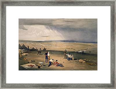 Camp Of The Third Division, Plate Framed Print by William 'Crimea' Simpson