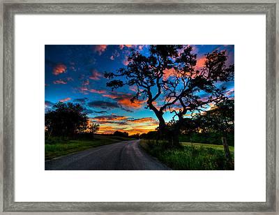Camp Verde Sunise Framed Print