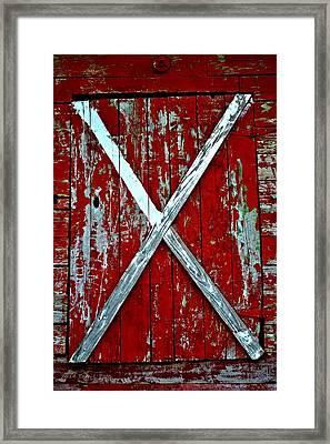 Camp Westminster Barn Framed Print by Tara Potts