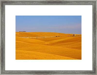 Tarquinia Landscape Campaign With Aqueduct And House Framed Print