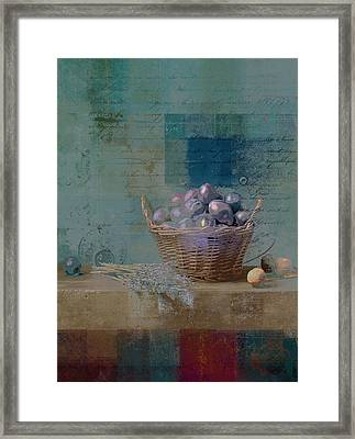 Campagnard - Rustic Still Life - J085079161f Framed Print by Variance Collections