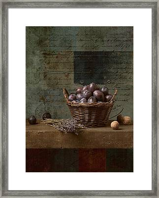 Campagnard - Rustic Still Life - S01otxt1ds1 Framed Print by Variance Collections