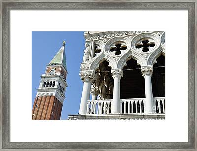 Campanile And Doges Palace Framed Print