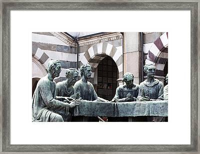 Campari Grave Marker Detail IIi Disciples Last Supper Framed Print