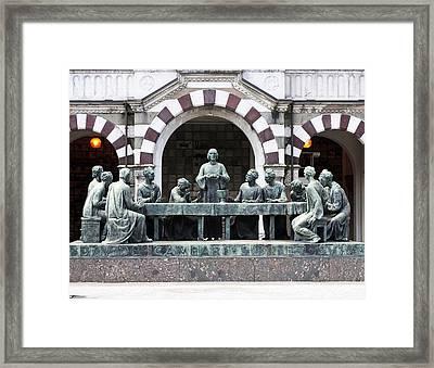 Campari Grave Marker Last Supper Monumental Cemetery Milan Italy Framed Print