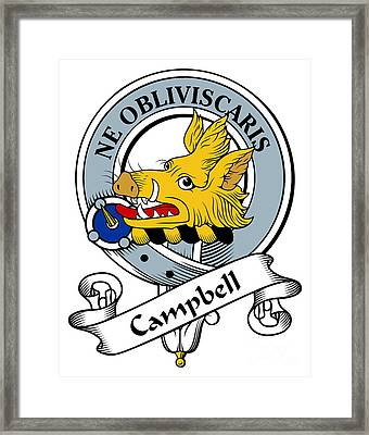 Campbell Clan Badge Framed Print by Heraldry
