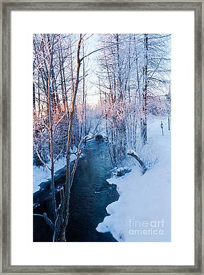 Campbell Creek In Hoarfrost Framed Print