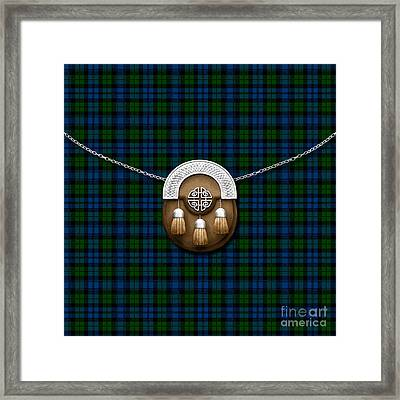Campbell Tartan And Sporran Framed Print