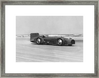 Campbell's Bluebird At Daytona Framed Print by Underwood Archives