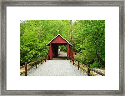 Framed Print featuring the photograph Campbells Covered Bridge by Bob Sample