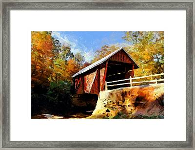 Campbell's Covered Bridge Framed Print