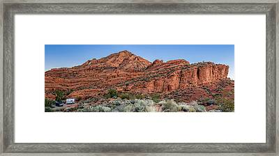 Camper At Red Cliff Campground, Red Framed Print