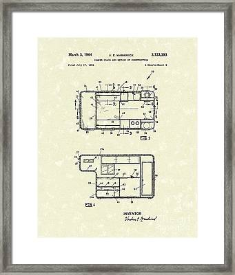 Camper Coach 1964 Patent Art Framed Print by Prior Art Design